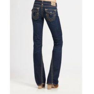 True religion Joey flare flap pocket jean size 24